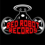 red robot logo bw red