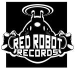 red robot logo thik bw